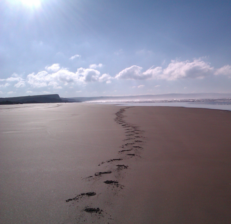 the local beaches of bude are unspoilt and untouched